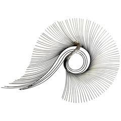 Curtis Jere Brass Peacock Wall Sculpture Mid-Century Modern Metal Art