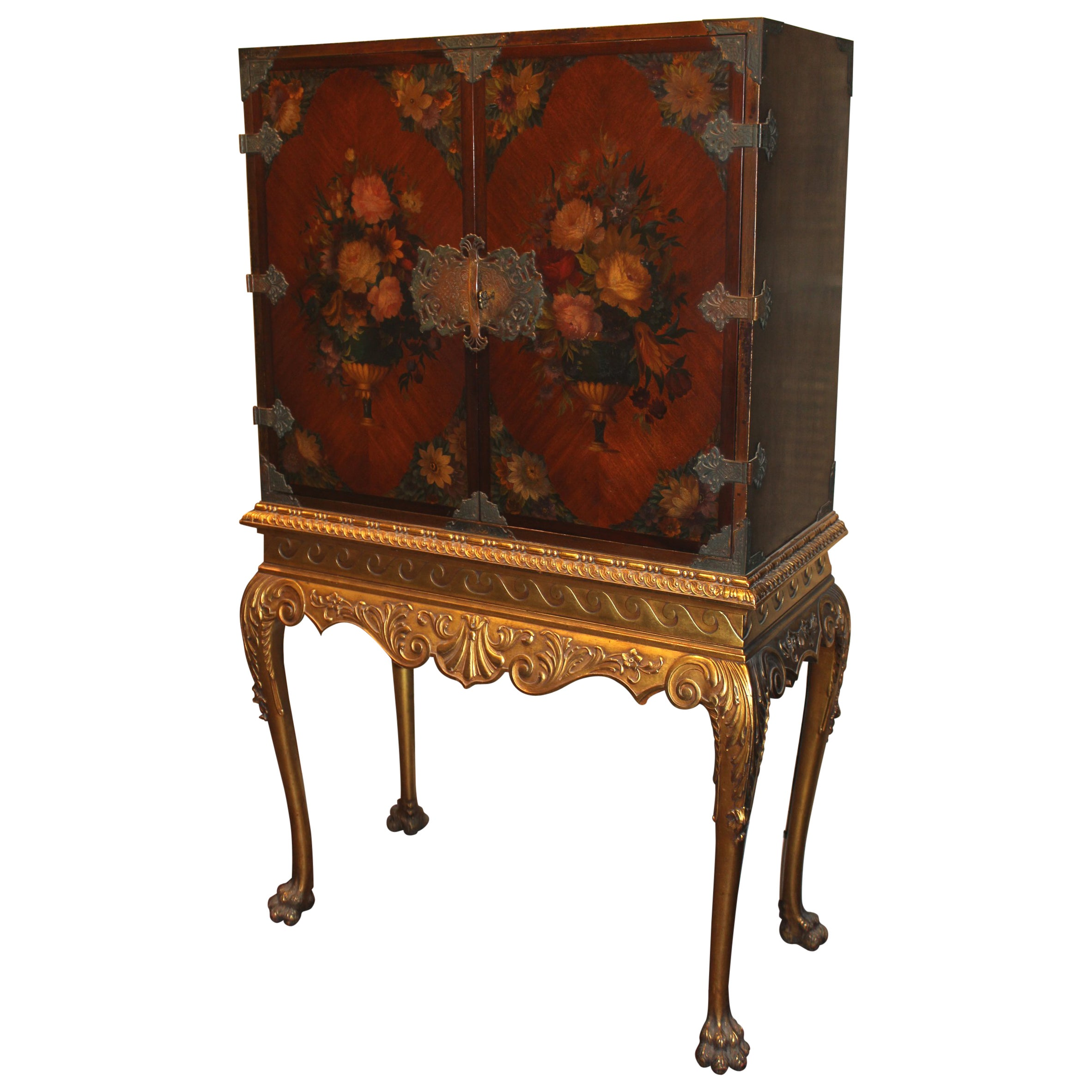 Cabinet On Stand Linen Press By Shaw Furniture Co Cambridge Ma Circa 1930 At 1stdibs
