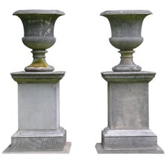 Composition Stone Urns and Pedestals