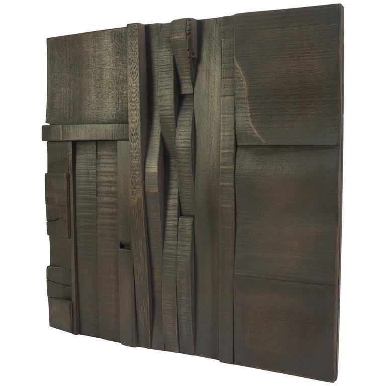 Zufällige Collage Panels, Funktionelle Kunst für die Wand aus Recyceltem Holz 1