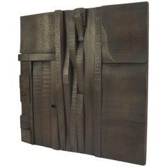 Zufällige Collage Panels, Funktionelle Kunst für die Wand aus Recyceltem Holz