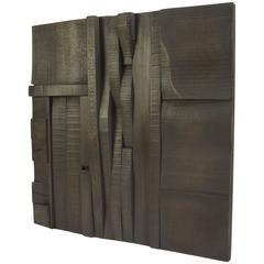 Random Collage Panels, Functional Art for Wall from Recycled Scrap Wood