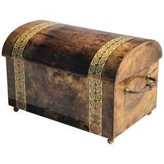 Aldo Tura Parchment Jewelry Box