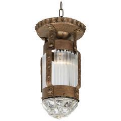 Italian Liberty 'Art Nouveau / Art and Crafts' Ceiling or Pendant Light