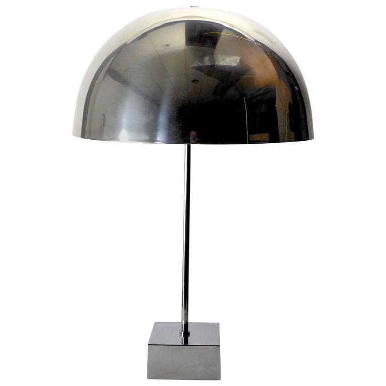 Chrome mushroom lamp by paul mayen for habitat for sale at for Habitat chrome floor lamp