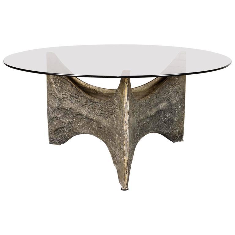 Mid-Century Brutalist Coffee Table In The Style Of Paul