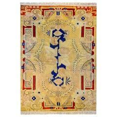 Fantastic Mid-20th Century Khotan Rug