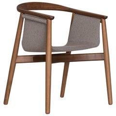 Zeitraum Pelle Dining Wood Armchair