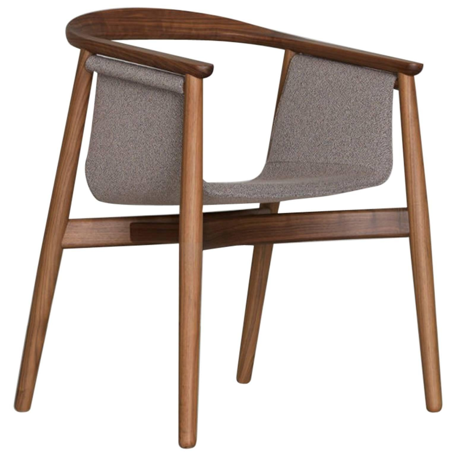 Merveilleux Zeitraum Pelle Dining Wood Armchair For Sale
