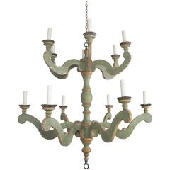 Two-Tier Italian Style Painted Chandelier