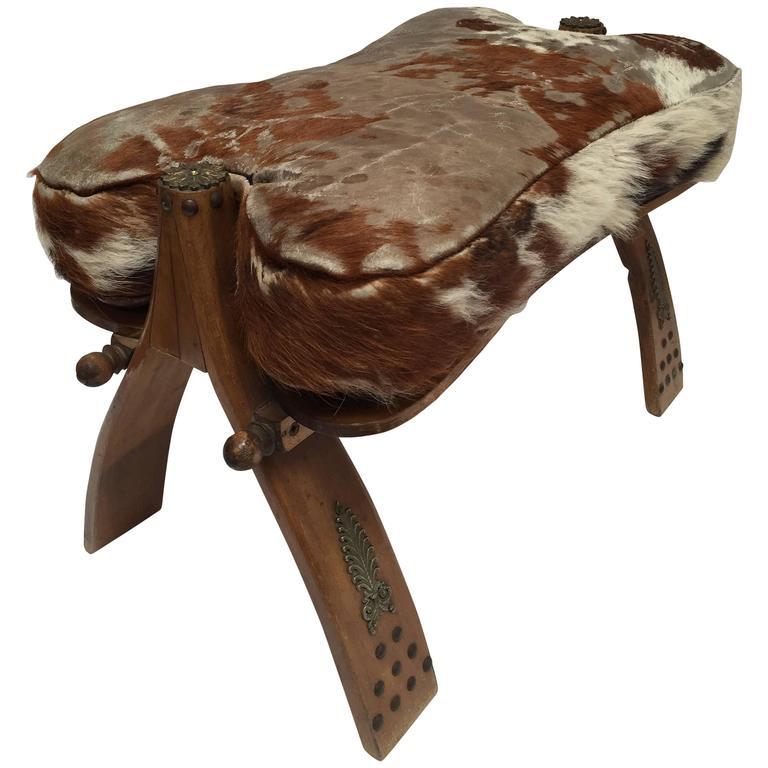 Moroccan Vintage Camel Saddle Stool For Sale At 1stdibs