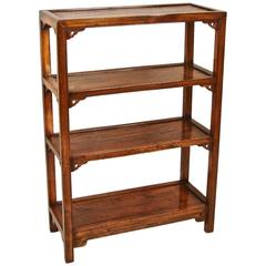 Chinese Elm Four-Tier Bookcase of Small Size