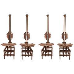 Set of Four Anacleto Spazzapan 1980s Chairs