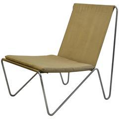 "Classic ""Bachelor"" Linen Chair by Verner Panton, circa 1960"