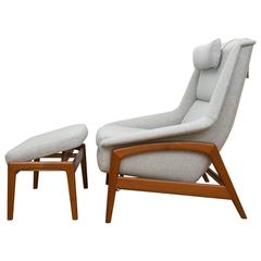Folke Ohlsson for DUX Teak Armchair