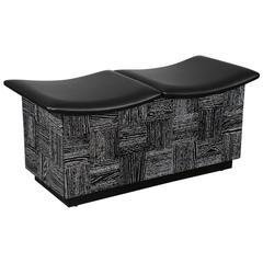 Cerused Oak Storage Bench