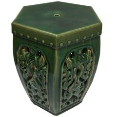Green Chinese Ceramic Garden Stool
