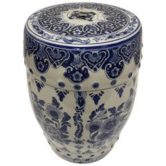 Blue and White Chinese Ceramic Garden Stool