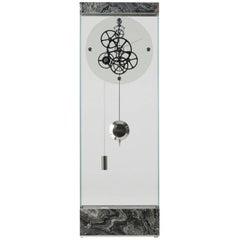 Brushed Silver Wave Adagio Contemporary Teckell Takto Mechanical Floor Clock