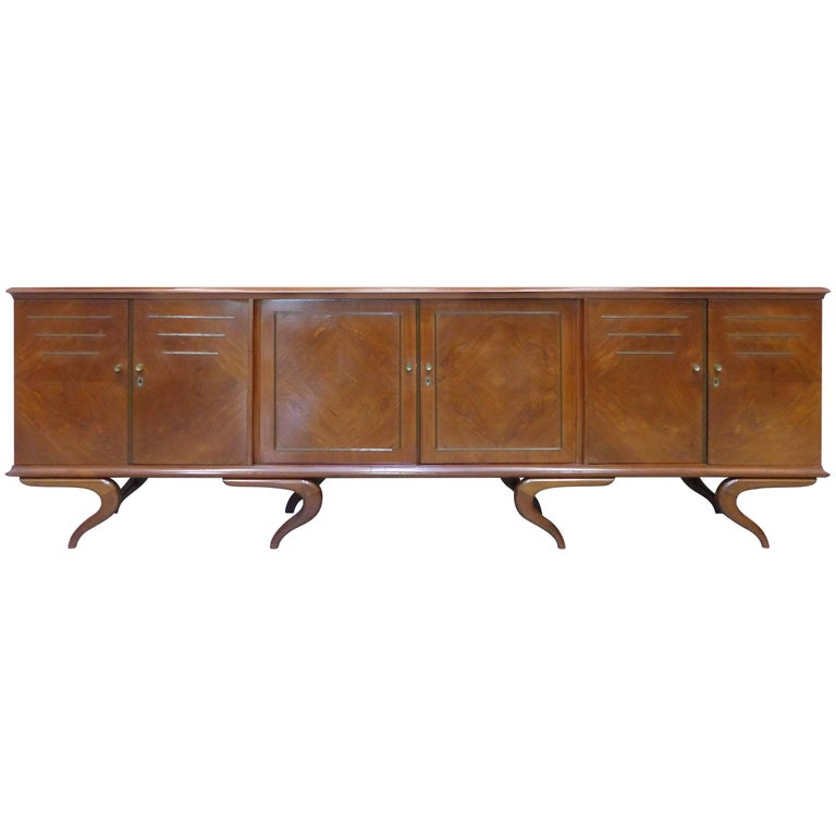 Giuseppe Scapinelli Sculptural Credenza, Monumental and Important, circa 1960 For Sale