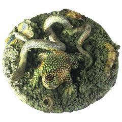 Pallisy Type Dish with Frog, Snake, Worm and Grub by Jose Cunha, Portugal