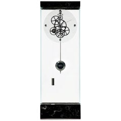 Marquina Black Adagio Teckell Takto Contemporary Mechanical Floor Clock