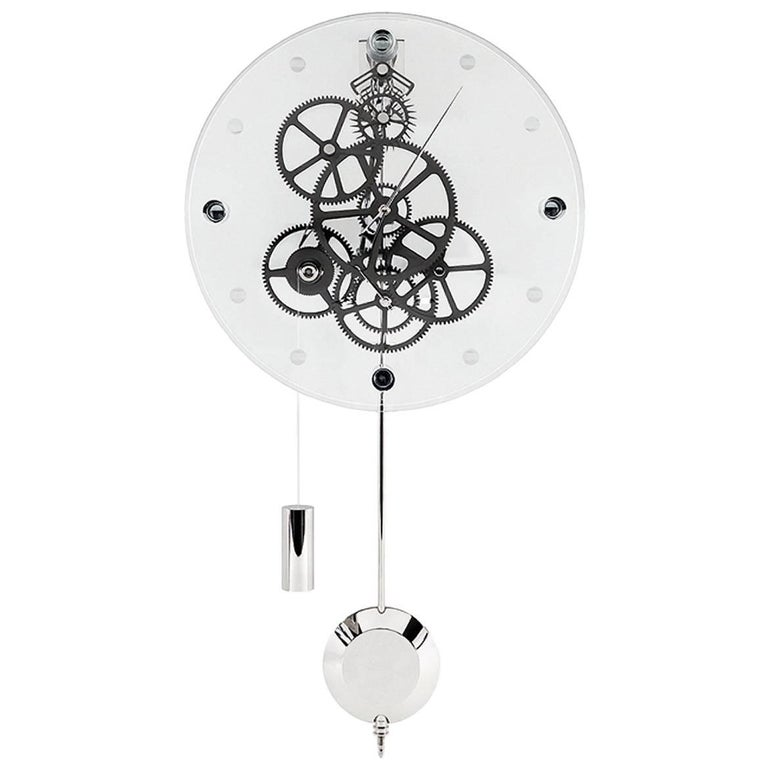 Allegro teckell takto contemporary mechanical wall clock with pendulum for sale at 1stdibs - Contemporary wall clocks with pendulum ...