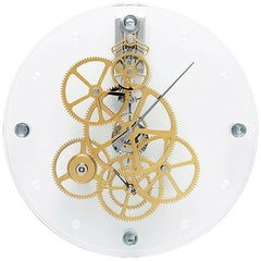 Presto Teckell Takto Contemporary Clear Glass Oversized Mechanical Wall Clock