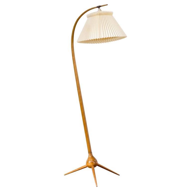 Severin Hansen Jr. Floor Lamp 'Bridge' with Three-Star Foot for Haslev