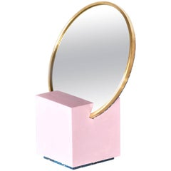 Slash Vanity Mirror Pink and Royal by Slash Objects, Made in USA