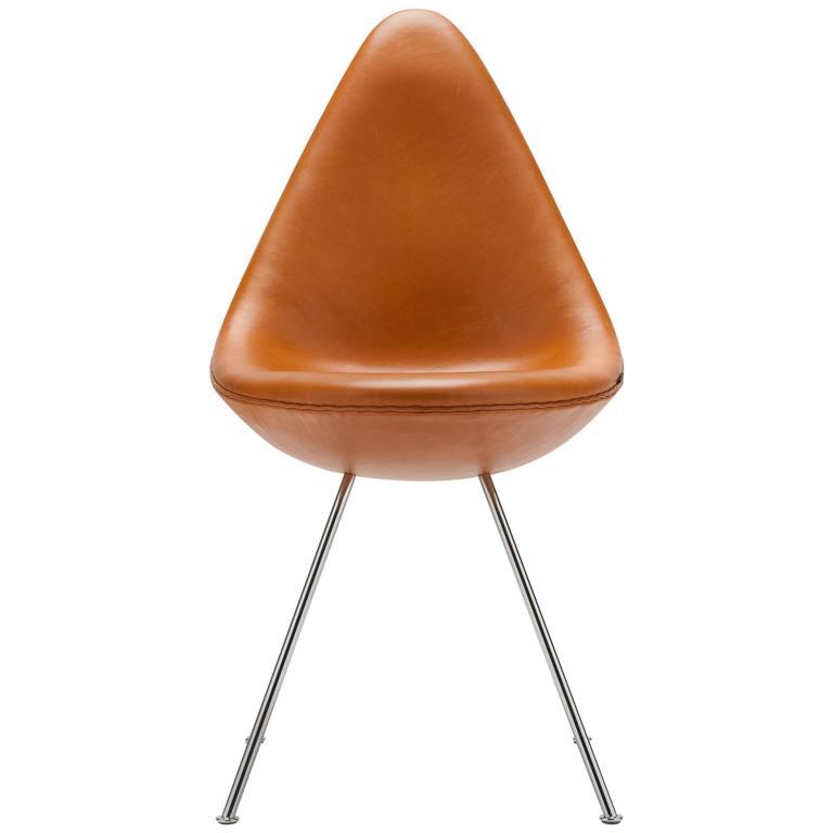 arne jacobsen drop chair by fritz hansen denmark for sale at 1stdibs. Black Bedroom Furniture Sets. Home Design Ideas