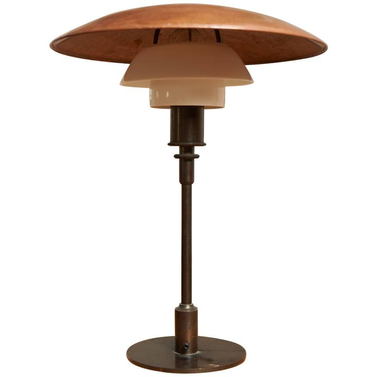 Poul Henningsen 4/3 Table Lamp from the 1930s