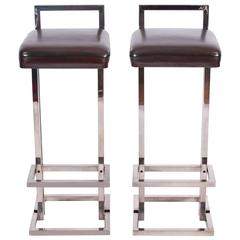 Pair of Bar Stools, French, 1970s