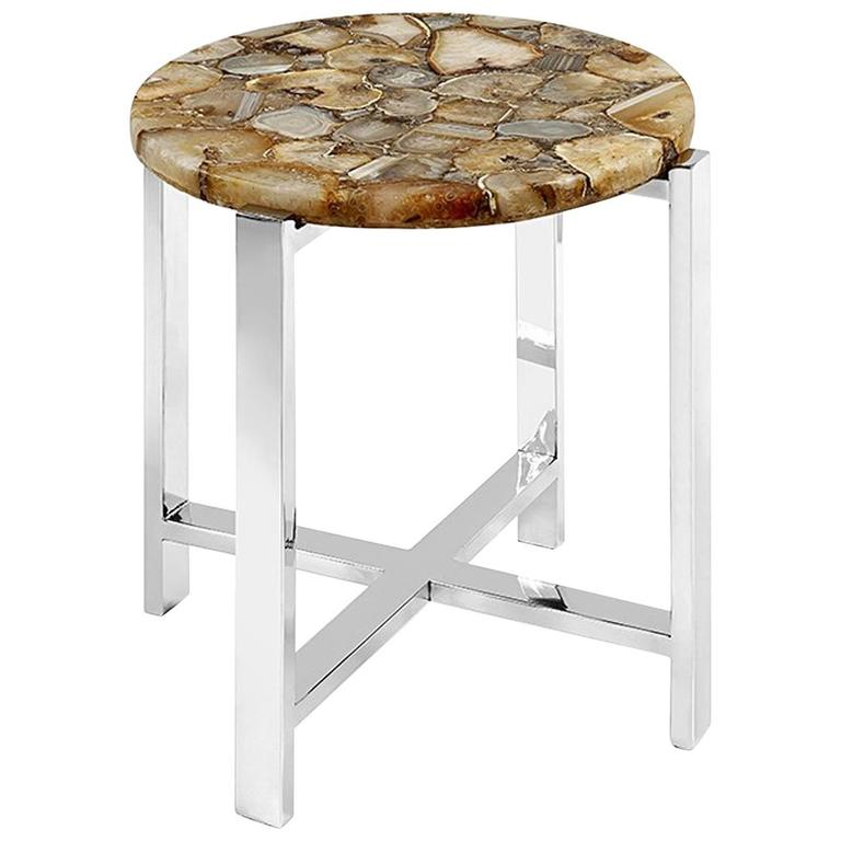 Agate Stone Side Table For