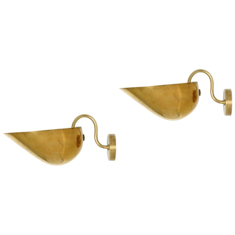 Carl-Axel Acking Wall Lamps in Brass