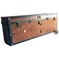 Antique BAL Steamer Trunk Travel Chest Victorian, 19th Century Rare