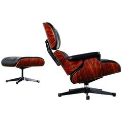 Vitra Charles Eames Lounge Chair and Ottoman in Rosewood by Vitra