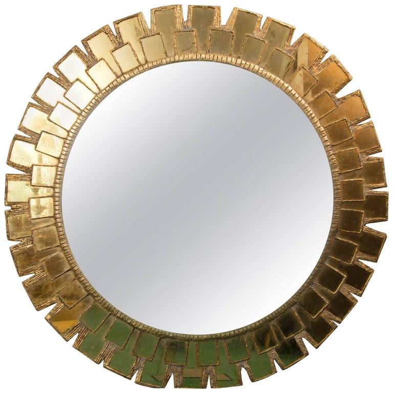 Mid-Century Large Circular Convex Mirror 1
