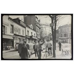 Vintage Photograph of Paris , Place Du Tertre , Montmartre, circa 1950