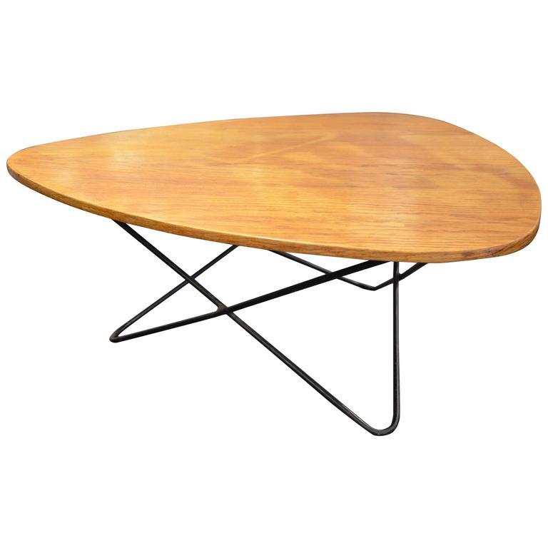 Beautiful italian wood free form coffee table circa 1960 for Free form wood coffee tables