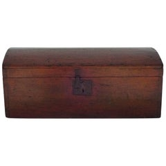 19th Century American Pine-Domed Top Storage Box