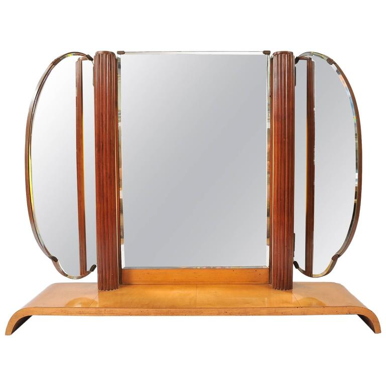 1920s Italian Extra Large Triptych MirrorLight For Sale