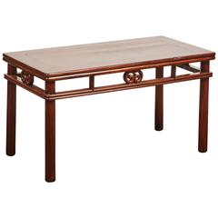 18-19th Century Chinese Low Wrapped Round Legged Table