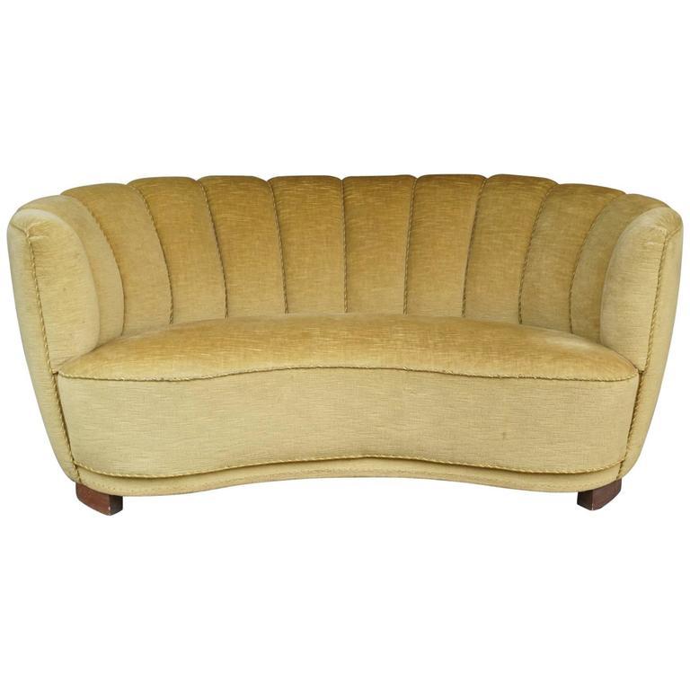 gold banana form sofa for sale at 1stdibs. Black Bedroom Furniture Sets. Home Design Ideas