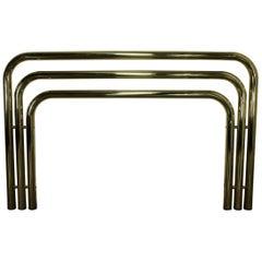 Bold and Brass Tubular Full-Queen Headboard 1970s