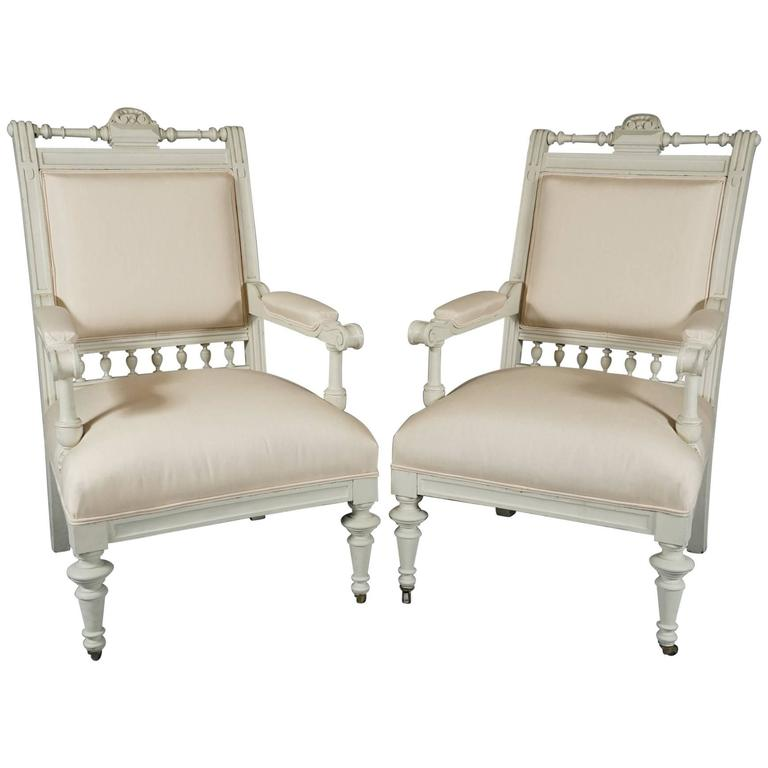 Pair of Danish Aesthetic Movement Armchairs For Sale