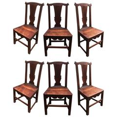Set of Six Late 18th Century Country Chippendale Chairs