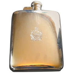 Kings Own Scottish Borderers Presentation Solid Silver Hip Flask