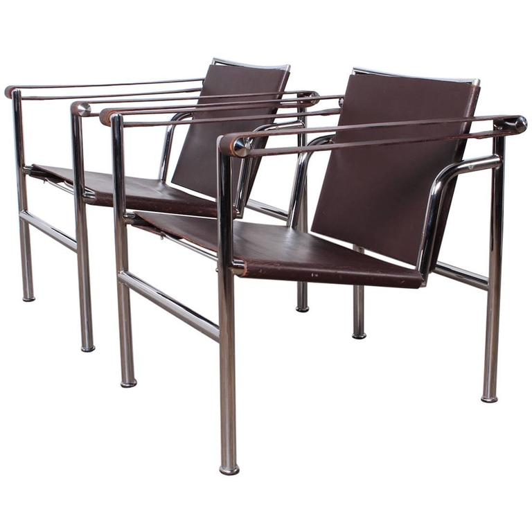 Pair Of Lc 1 Chairs By Le Corbusier For Sale At 1stdibs