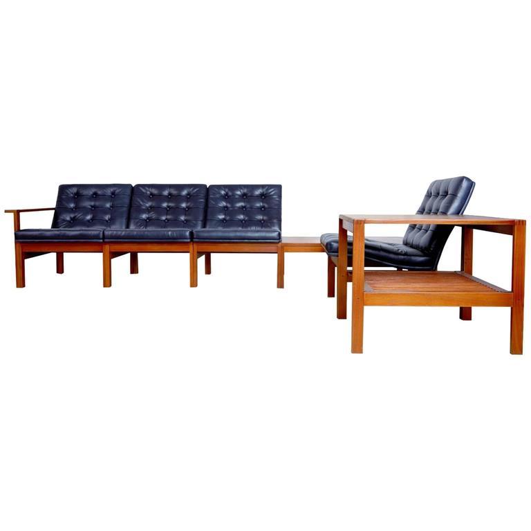 Mid-Century Modern France & Son Moduline Living Room Set by Ole Gjerløv-Knudsen & Torben Lind For Sale